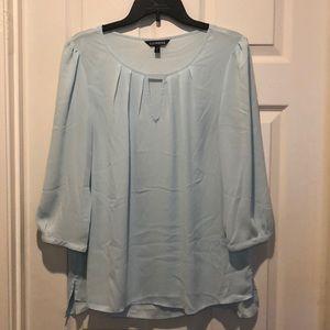 Express powder blue blouse
